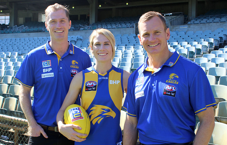 Dana Hooker signs with the Eagles. Image: West Coast Eagles