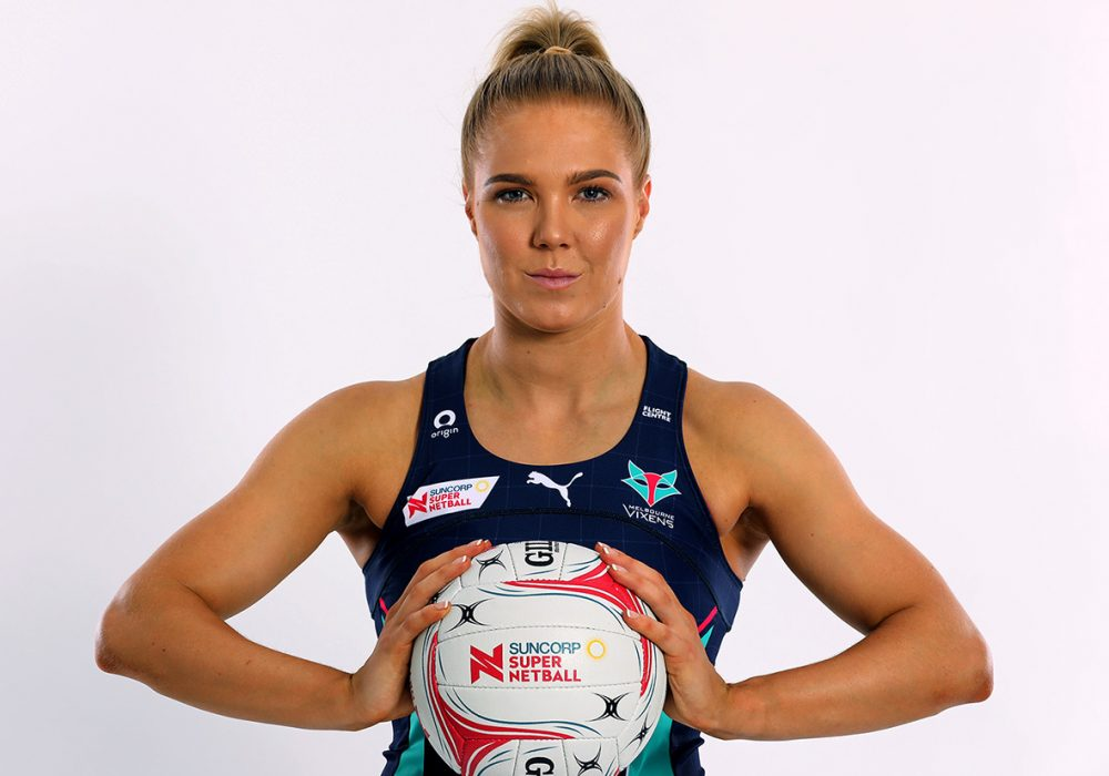 Kate Moloney. Image: Melbourne Vixens