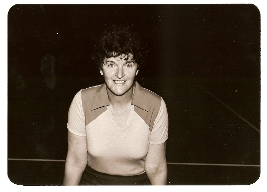 Image is a black and white photo of Joyce Brown, an Australian netball heroine. Siren Sport.