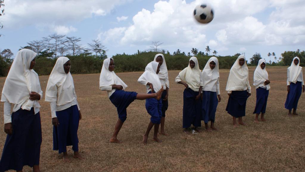 A production still from 'Zanzibar Soccer Dreams', a documentary in the 2020 Women Sports Film Festival