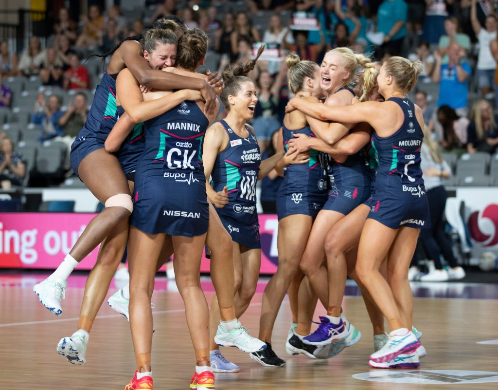 Melbourne Vixens celebrate their premiership after a tough season in the Queensland hub. Image: Barry Alsop/Melbourne Vixens 2020 Season Review