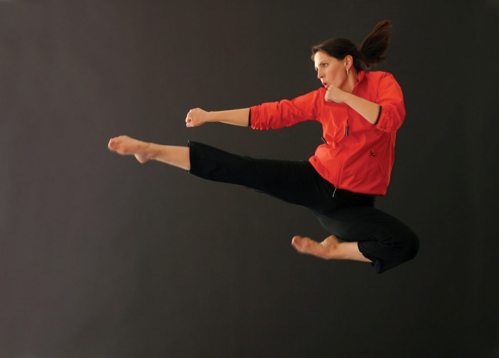 Lauren Burns in action. Image: Provided The Pink Belt Project