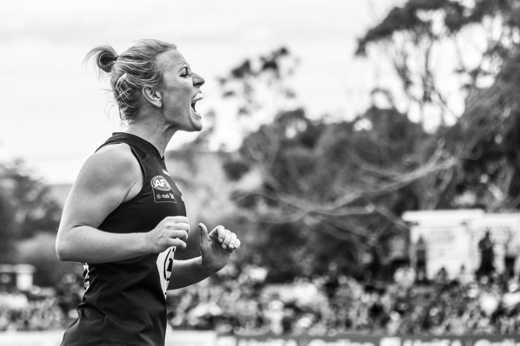 Katie Loynes, Carlton Blues co-captain, round 4 2020. Image: Charli Brown Women in sport photography