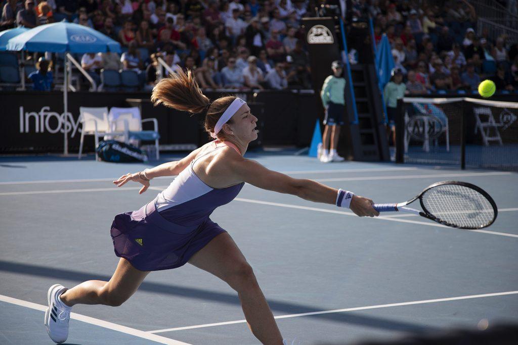 Karolína Muchova at the Australian Open, 2020 Image: Megan Brewer Women in sporty photography