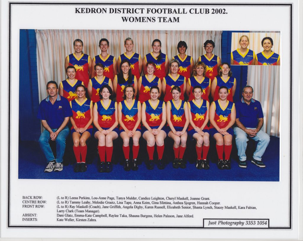 The 2002 Kedron Lions. Supplied: Karen Russell (Slinger)