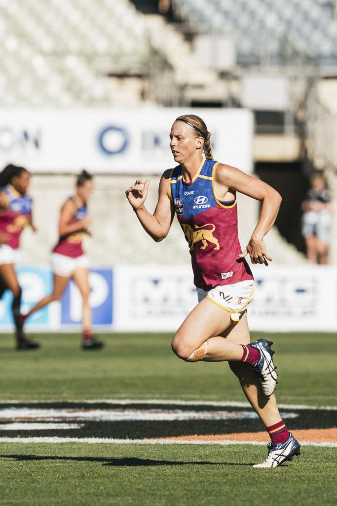 Kate Lutkins is one the Brisbane's 'Foundation Eight'. Image: Steph Comelli / She Scores