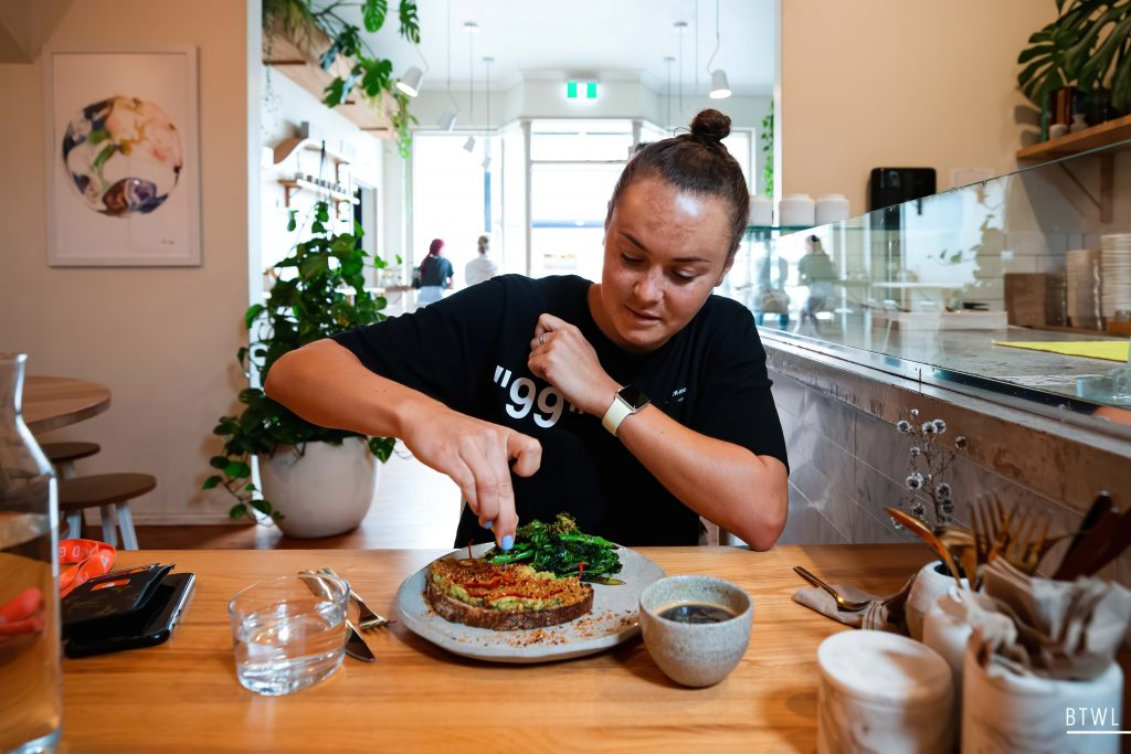 That famous smashed avo with Caitlin Foord. Image By The White Line. Getting closer