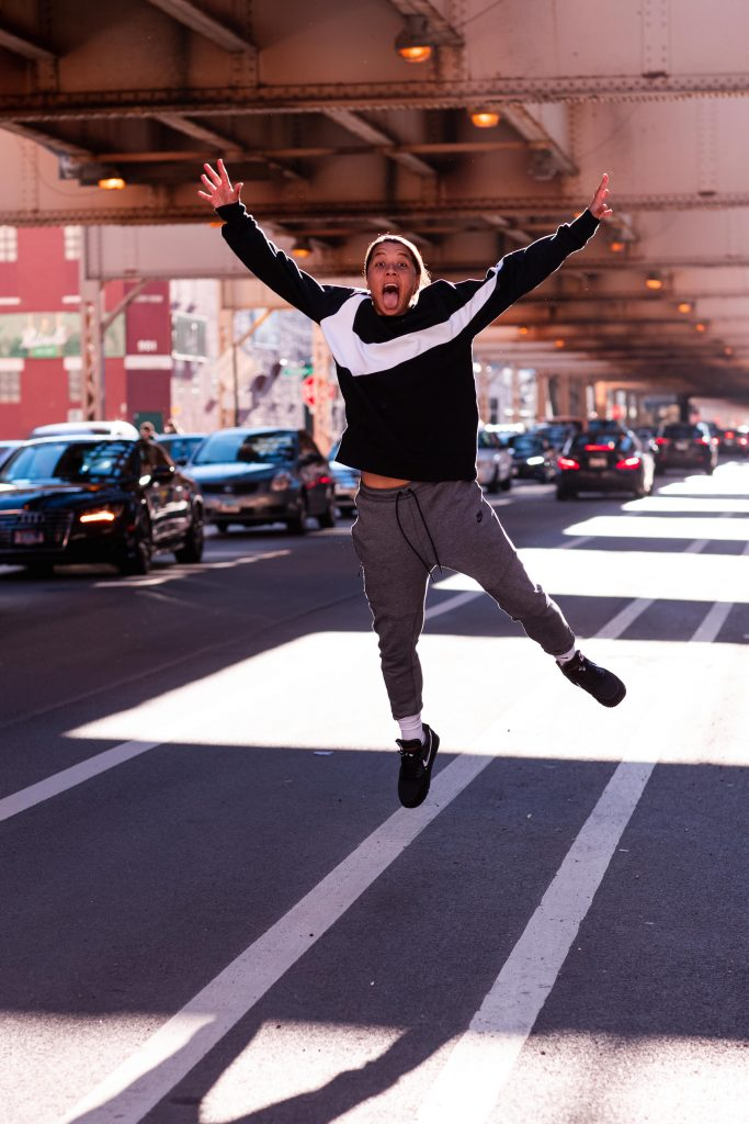 A Sam Kerr surprise in Chicago. Image By The White Line. Getting closer
