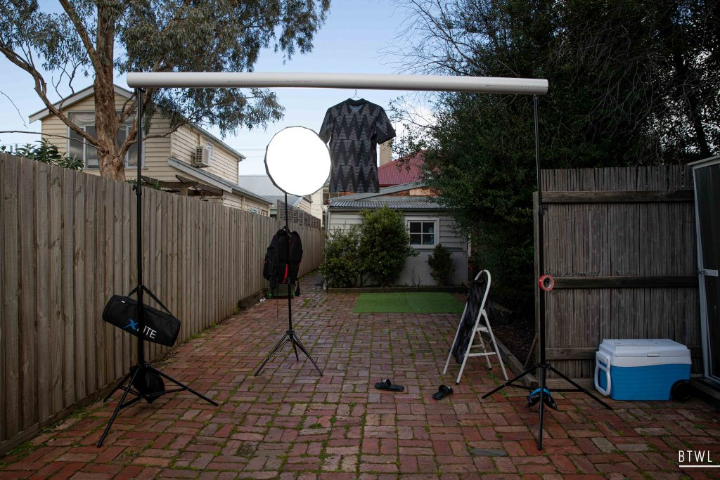 A behind the scenes look at the New Zealand kit shoot. Crossbar in the backyard? No problem! Image: Rachel Bach / By The White Line