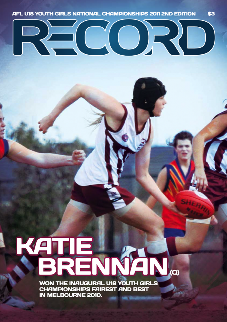 A teenage Katie Brennan features on the cover of the 2011 U18 national championships record