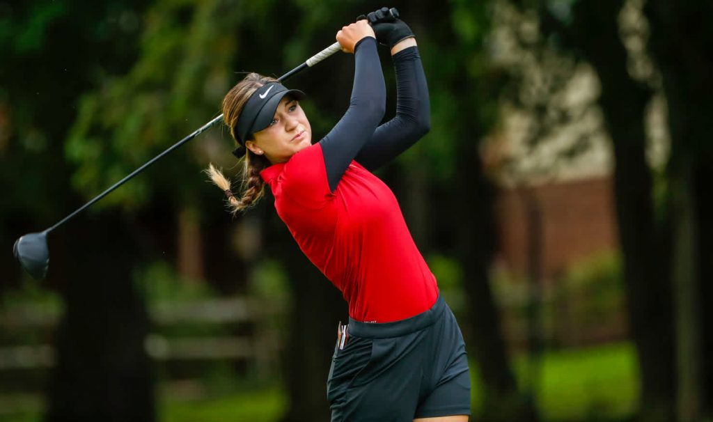 Gabi Ruffels has been named Amateur Golf's women's player of the year. Sourced: Golf Australia