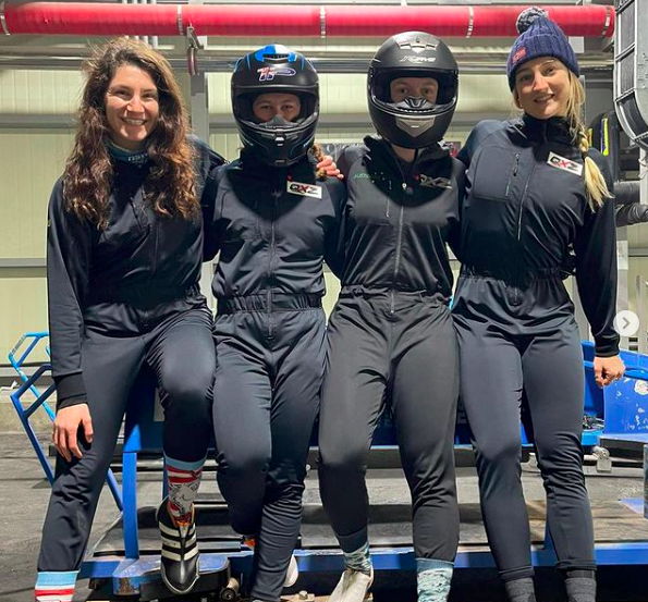 The Australian Women's Bobsled Team is gearing up for the 2022 Winter Olympics. Source: @ashleighwerner
