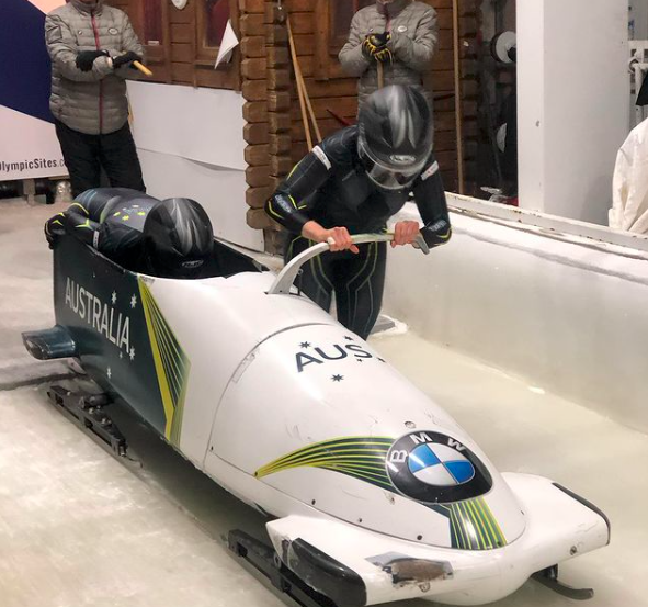 Ashleigh Werner is the captain of the Australian Women's Bobsled Team. Source: @ashleighwerner