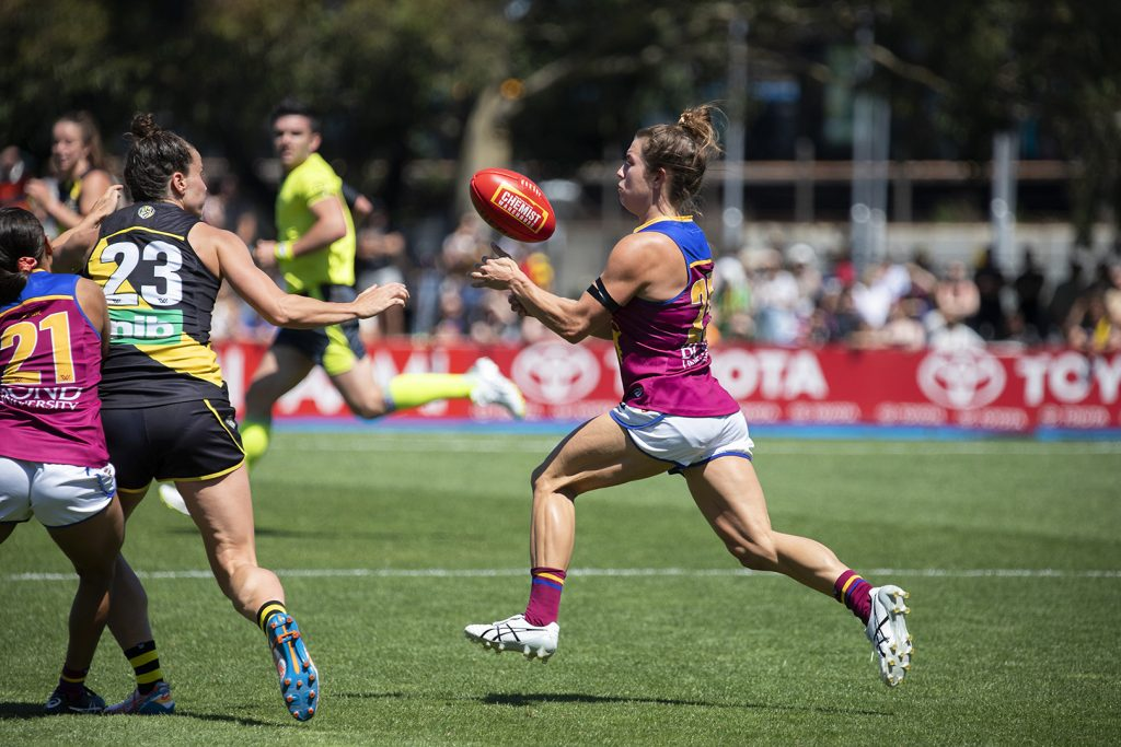 Cathy Svarc hasn't taken any steps backward in her second year. Image: Megan Brewer AFLW Round One