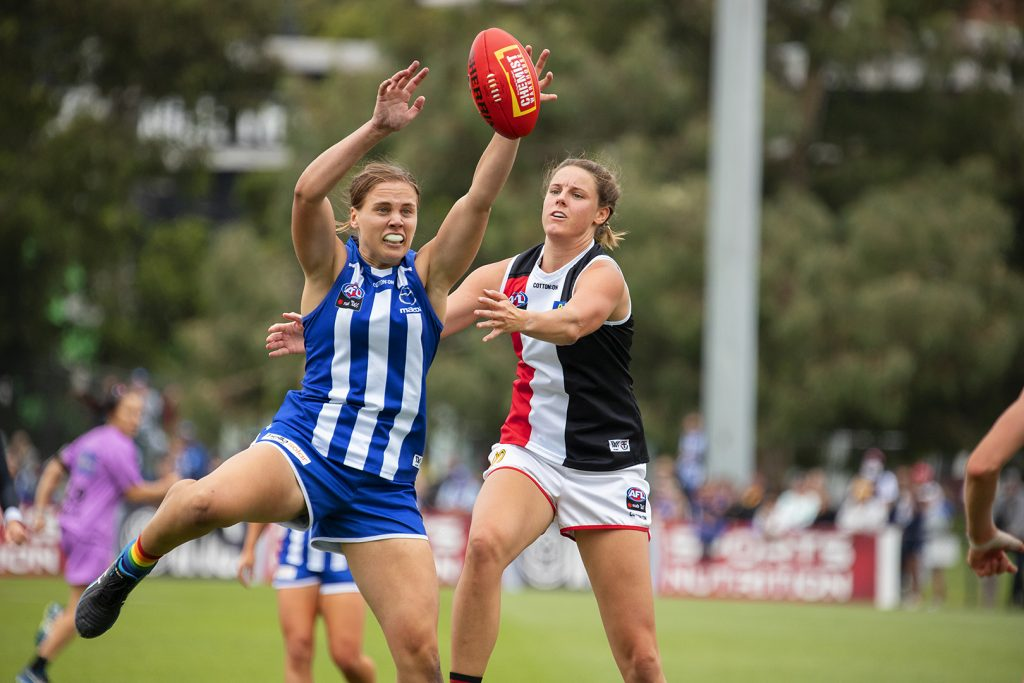 Jasmine Garner has continued her spectacular 2020 form this year. AFLW round two Image: Megan Brewer