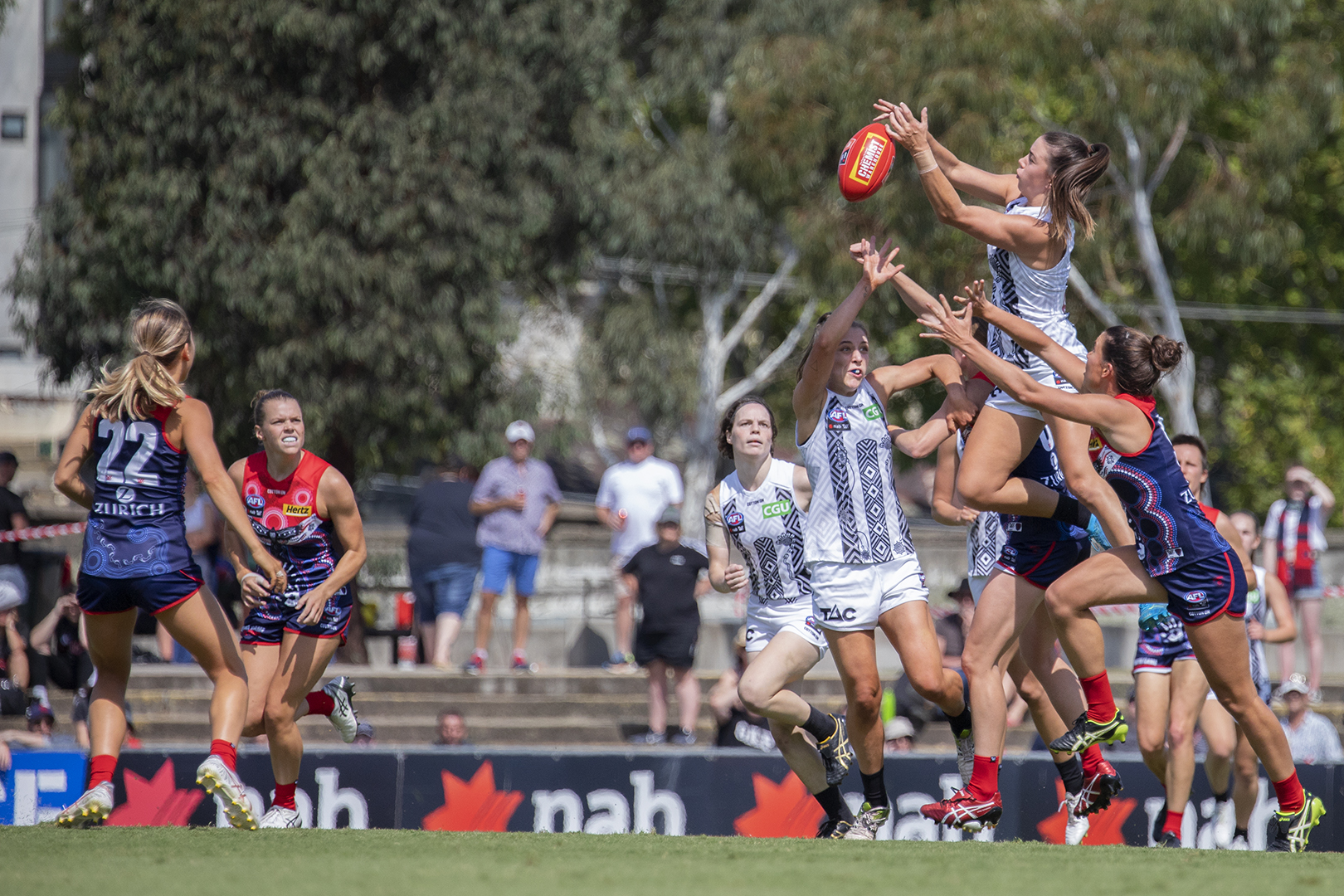 Chloe Molloy added to her highlight reel yet again against the Demons. Image: Megan Brewer AFLW Round Five