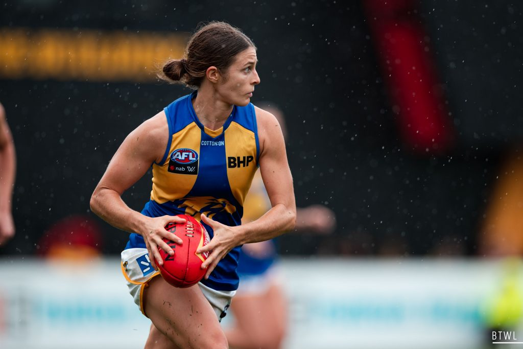 Belinda Smith has been a rock in defence for the Eagles. Image: Rachel Bach / By The White Line