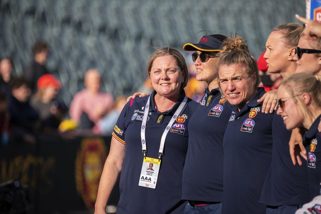 Breeanna Brock has led the Lions as their Women's CEO since the AFLW's inception. Image: Megan Brewer