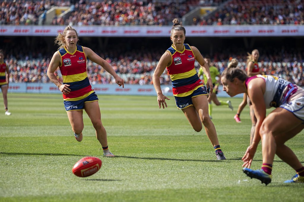 The Lions did well to limit Ebony Marinoff's influence. AFLW Grand Final Image: Megan Brewer