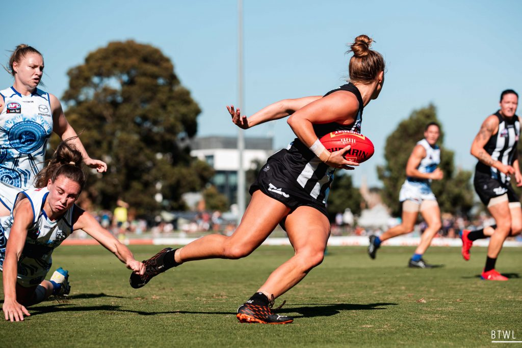 Ruby Schleicher has taken her game to a new level in 2021. AFLW Qualifying Finals Image: Rachel Bach / By The White Line