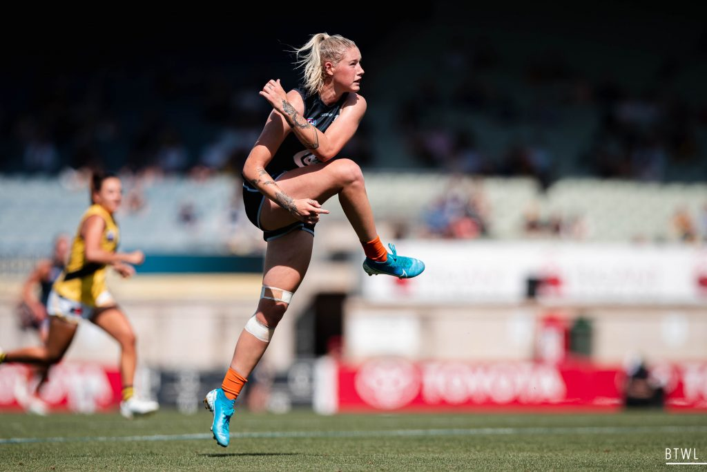 Tayla Harris returns to the Demons, the club she played for during the exhibition series preceding the AFLW. AFLW 2021 Trade Wrap Image: Rachel Bach / By The White Line
