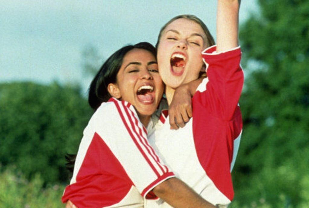 The community and friendship aspect of women's sport s at the forefront in Bend It Like Beckham.