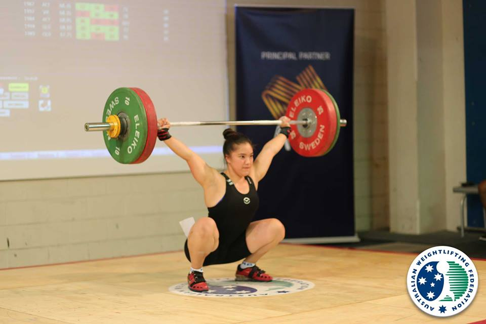 Kiana Elliott has qualified for the Tokyo Olympics. Sourced: NSW Weight Lifting Association