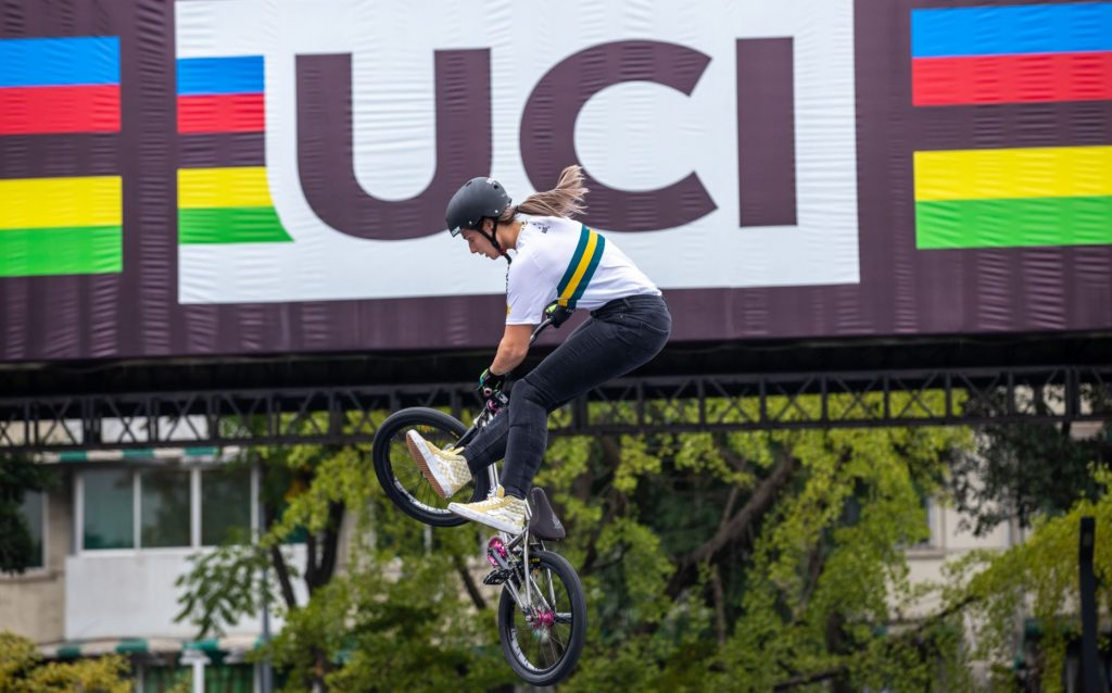 Natalya Diehm will be the first BMX Freestyler to represent Australia at the Olympics. Provided: AusCycling