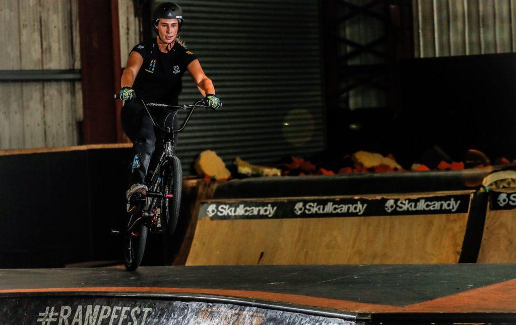 Natalya in action. Provided: AusCycling
