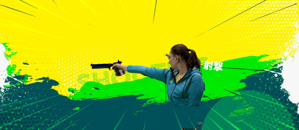Elena Galiabouitch is one of four women representing Australia in shooting events in Tokyo.
