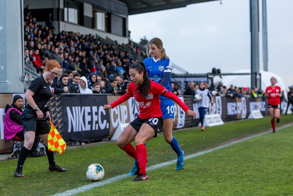 Gülcan Koca contests the ball for Calder United. Image: Supplied