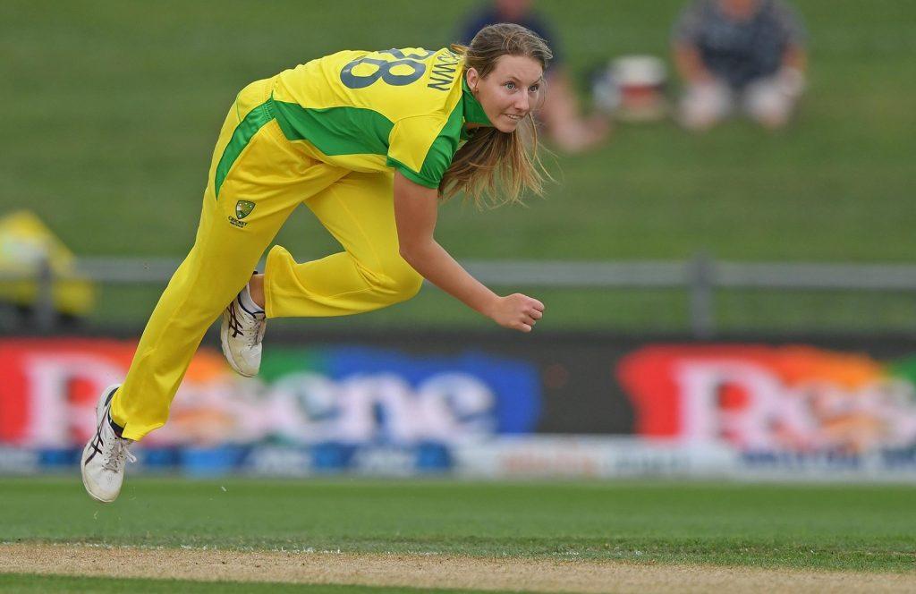 Darcie Brown in action for Australia. Image: Cricket Australia