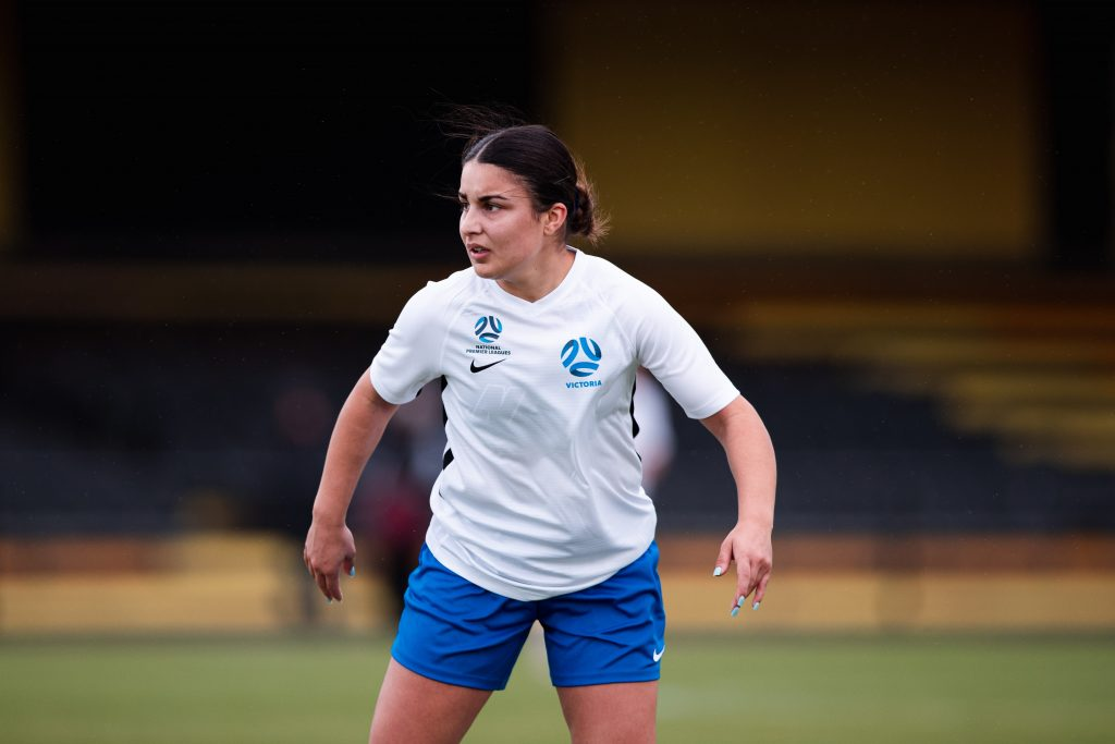 Franny Iermano in action for Football Victoria's Emerging Squad. Image: Rachel Bach / Football Victoria