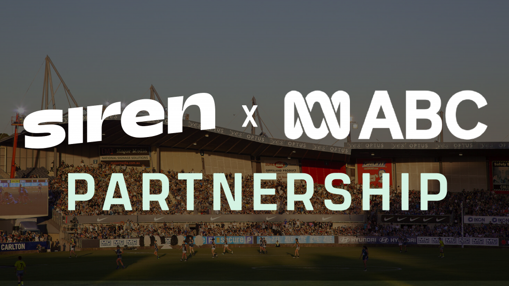 Siren is pleased to announce a partnership with the ABC.