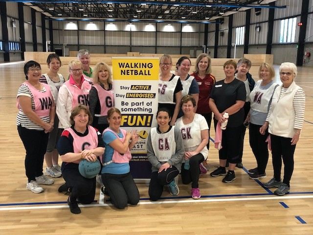 Walking netball launched at Waverley in 2020. Image: The Waverley Night Netball Association