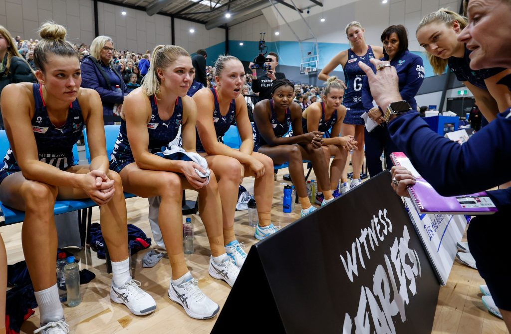 Mundy has relished the opportunity in 2021 to learn from Vixens teammates Liz Watson and Kate Moloney. Image: Grant Treeby/Melbourne Vixens