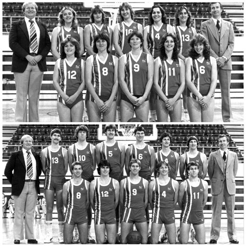 AIS team photo. Spot the bloomin difference…bonus points for body language. Image sourced Basketball Australia.